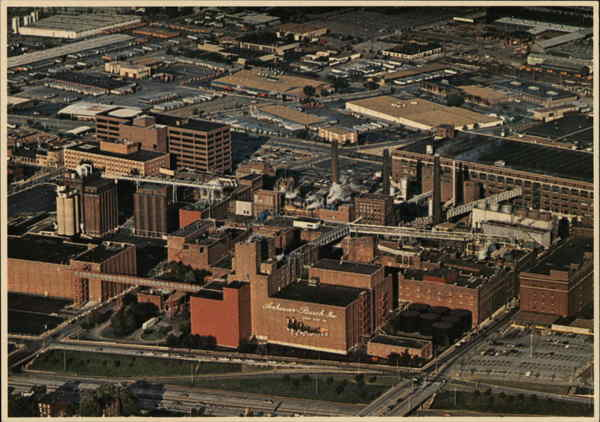 Aerial View of Anheuser Busch Brewery St. Louis Missouri
