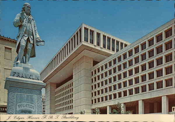 J. Edgar Hoover, F.B.I. Building Washington District of Columbia
