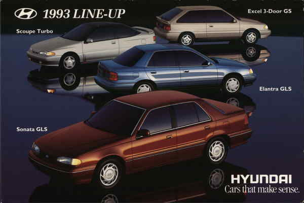 1993 Line Up  Hyundai, Cars That Make Sense.