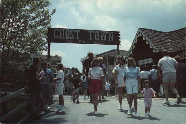 Ghost Town In The Sky Amusement Parks Postcard