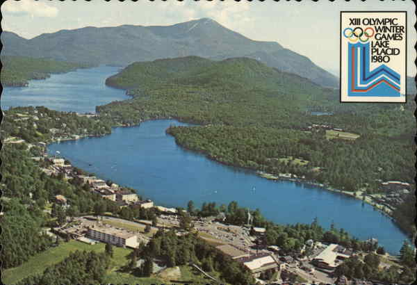 Aerial View Lake Placid New York Olympics
