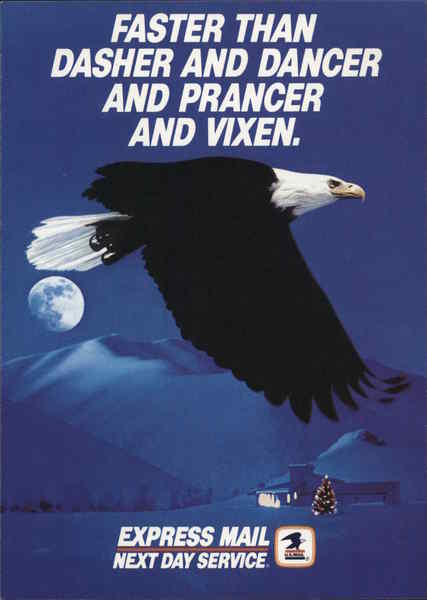 Eagle with Earth in Background, Promotion for USPS Express Mail Next Day Service