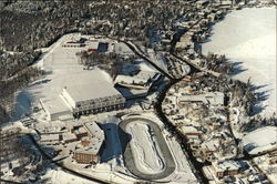 Aerial View of Village showing Olympic Arenas and Speed Skating Oval