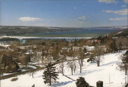 Cayuga Lake from McGraw Tower, Cornell University