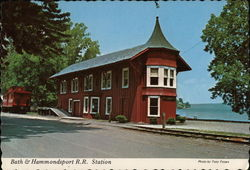 Bath & Hammondsport R.R. Station Postcard