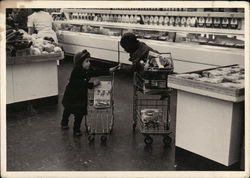 Children In A Supermarket Postcard