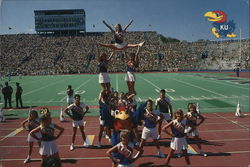 The University of Kansas Cheerleaders
