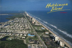 Looking North Along Hutchinson Island, Florida