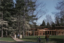 Visitor Center in Spring, Bernheim Arboretum and Research Forest