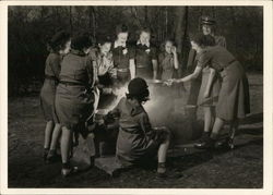 Girl Scouts, Cunningham Park, New York City, 1943