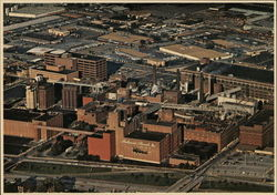 Aerial View of Anheuser Busch Brewery Postcard