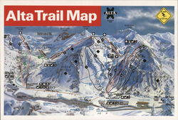 Alta Trail Map Postcard