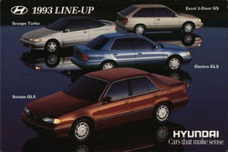 1993 Line-Up--Hyundai, Cars that make sense.