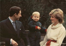 Prince William of Wales, 18 Months, With His Parents