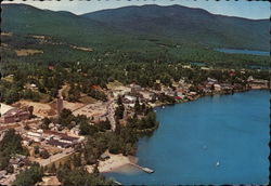 Lake Placid, N. Y. on Mirror Lake in the Adirondacks