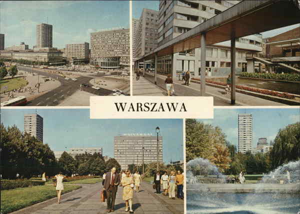 Greetings from Warsaw Poland Eastern Europe