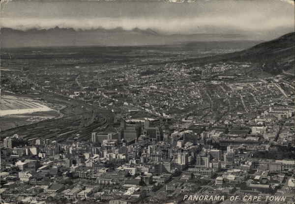 Panoramic View of City Cape Town South Africa