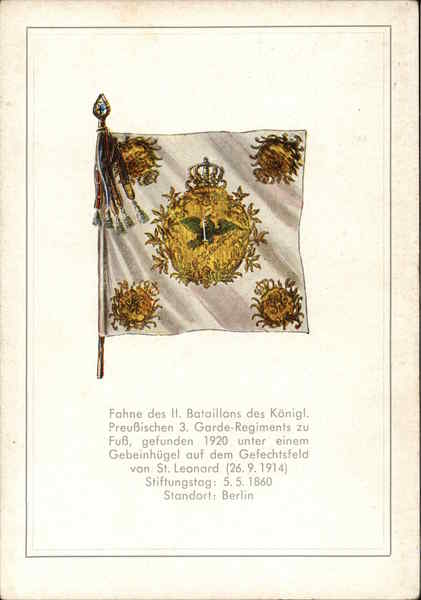 Fahne des II. Bataillons des Koenigl. Preussischen 3. Garde-Regiments zu Fuss
