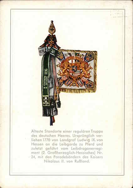 Oldest standard of a regular force of the German army Germany