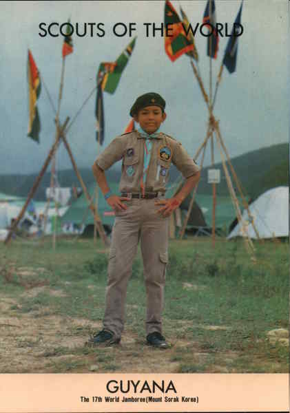1991 Scouts of the World: Guyana South America Boy Scouts