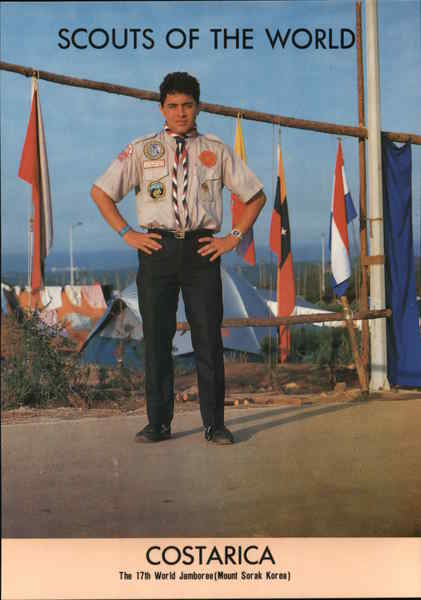 1991 Scouts of the World: Costarica Costa Rica Central America