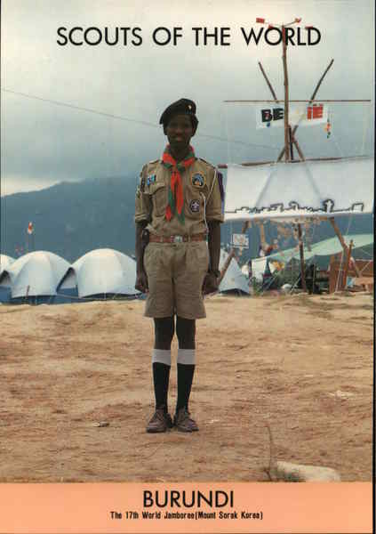 1991 Scouts of the World: Burundi Africa Boy Scouts