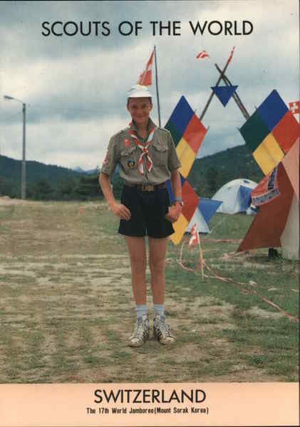 1991 Scouts of the World: Switzerland Boy Scouts