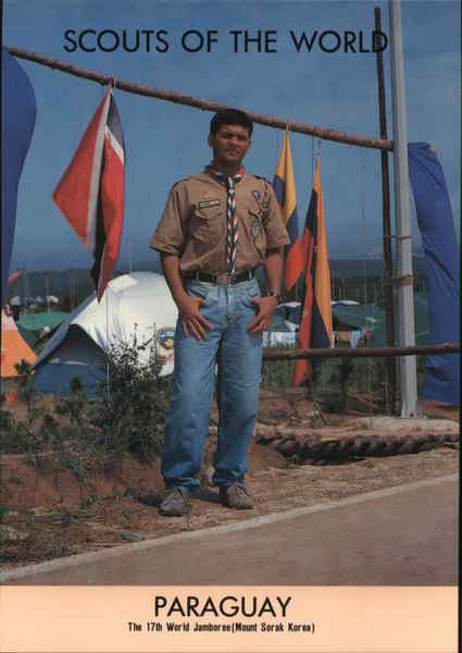1991 Scouts of the World: Paraguay South America Boy Scouts
