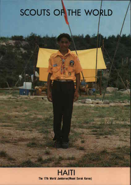 1991 Scouts of the World: Haiti Caribbean Islands Boy Scouts
