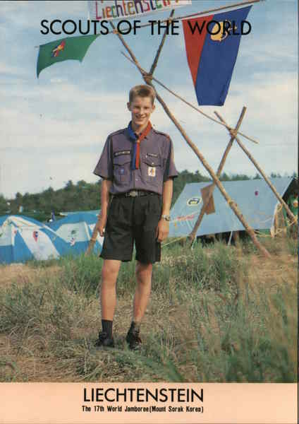 1991 Scouts of the World: Liechtenstein Boy Scouts