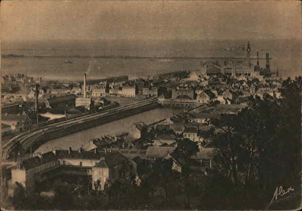 View of Town and Pier Cherbourg France