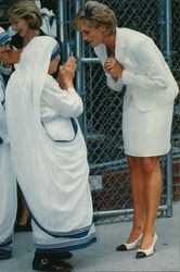Diana, Princess of Wales and Mother Teresa