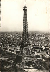 Eiffel Tower and View of City