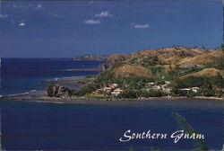 View of Village and Coast Postcard