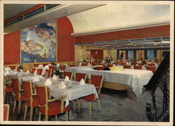 "M/S ""Oslofjord"" - Dining Room, First Class"