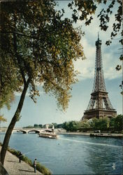 Paris View on the river Seine and Eiffel Tower