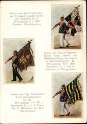 Military Flags of Prussia, Austria, Hungary, and Saxony