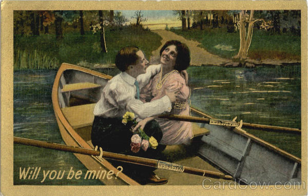 Will you be mine? Romance & Love Canoes & Rowboats