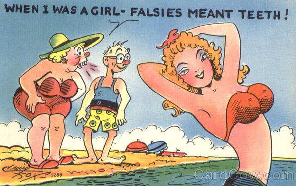 When I Was A Girl - Falsies Meant Teeth ! Comic, Funny