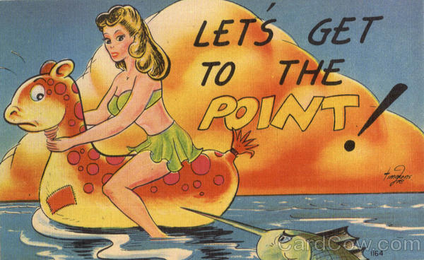 Let's Get To The Point! Comic, Funny