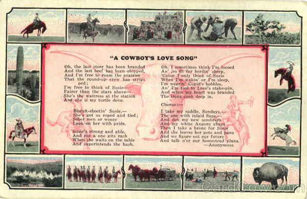 A Cowboy's Love Song Cowboy Western Poems