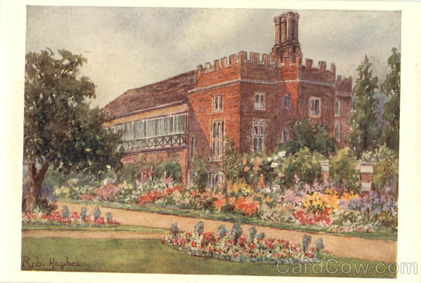 Rob Hughes Hampton Court Palace and Gardens Artist Signed