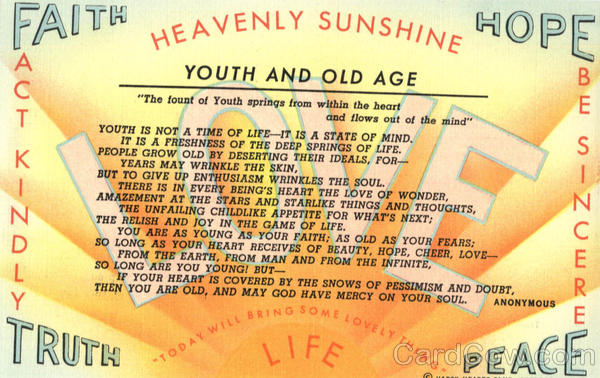 Heavenly Sunshine - Youth and Old Age Phrases & Sayings