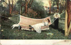 Couple in a Hammock Postcard