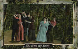 Kiss all the boys for me--- Postcard
