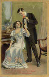 Couple in Parlor, with Piano