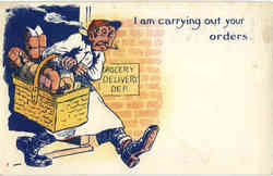 I am carrying out your orders Postcard