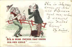 It's a wise father that knows his own child Shakespear Postcard