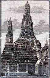 "Scene of Temple of Dawn, ""Wat Aroon"" Postcard"
