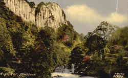 High Tor, Matlock Postcard